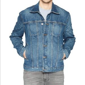 HUDSON Butto front Dark Jean Jacket Large NWT
